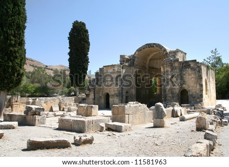 """Ruin of Old ancient city, """"gortyna"""" - stock photo"""