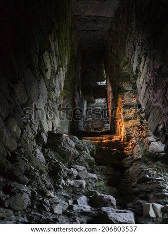 Ruined castle on the ring of Kerry,Ireland - stock photo