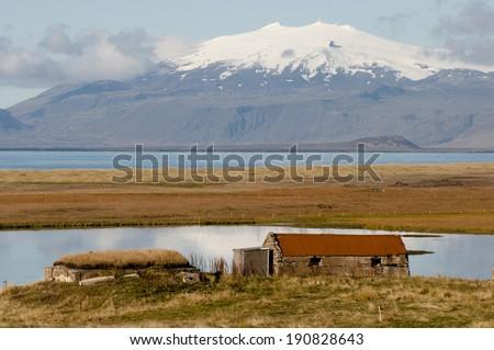 Ruins - Iceland  - stock photo