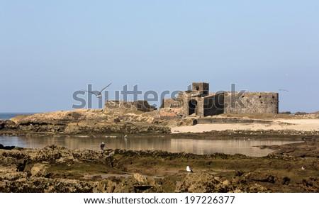 Ruins in Essaouria, Morocco - stock photo