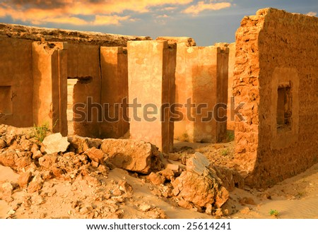 ruins in tunisia - stock photo