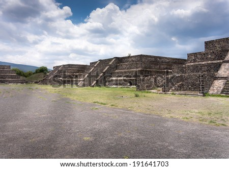 Ruins of a building, Teotihuacan, Mexico City, Mexico - stock photo