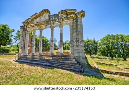 Ruins of ancient Apollonia - Albania - stock photo