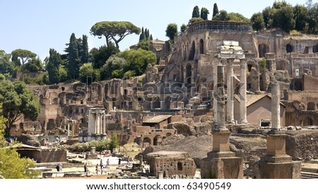 Ruins of ancient civilization to this day they do a great impression - stock photo