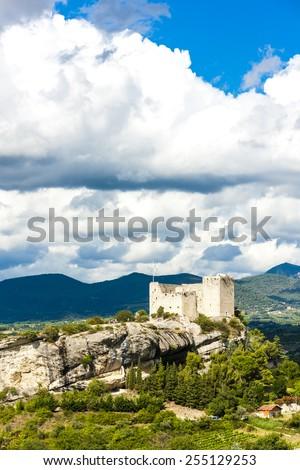 ruins of castle in Vaison-la-Romaine, Provence, France - stock photo