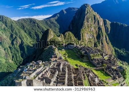 Ruins of Machu Picchu, Peru - stock photo