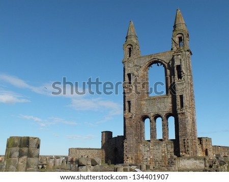 Ruins of Monastery at St. Andrews  , Scotland - stock photo