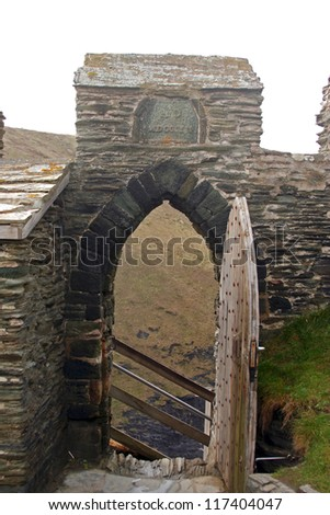 Ruins of Tintagel Castle, Cornwall - stock photo