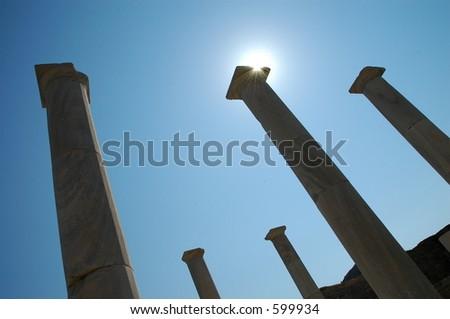 Ruins on Delos - stock photo