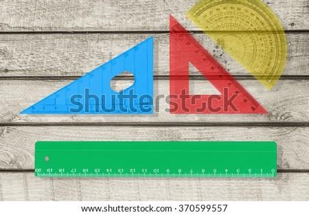 Ruler. - stock photo