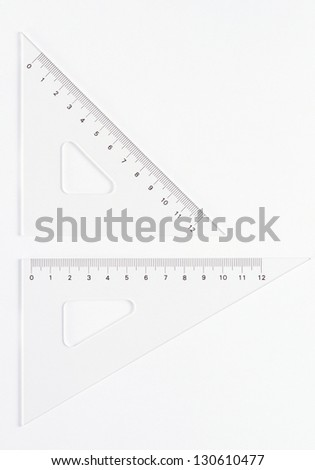 Ruler instruments - stock photo