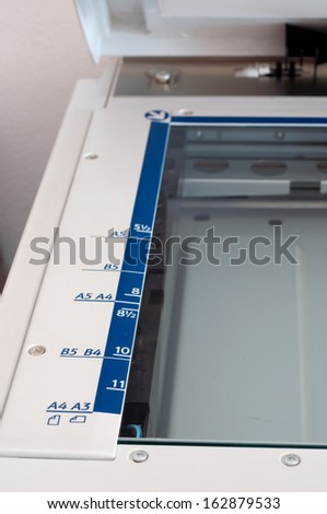 ruler of copy machine in office - stock photo