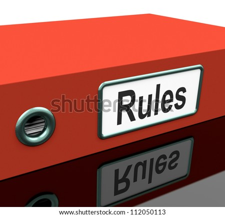 Rules File Or Policy Guide Documentation - stock photo