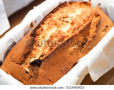 Rum Wine & Dried Longan Pound Cake - stock photo