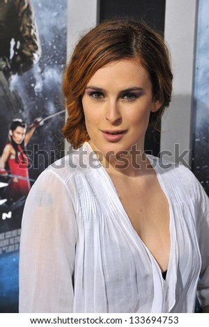 """Rumer Willis at the Los Angeles premiere of """"G.I. Joe: Retaliation"""" at the Chinese Theatre, Hollywood. March 28, 2013  Los Angeles, CA Picture: Paul Smit - stock photo"""