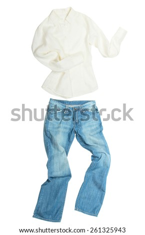Run away clothes isolated on white background   - stock photo