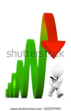 run away from crisis - stock photo