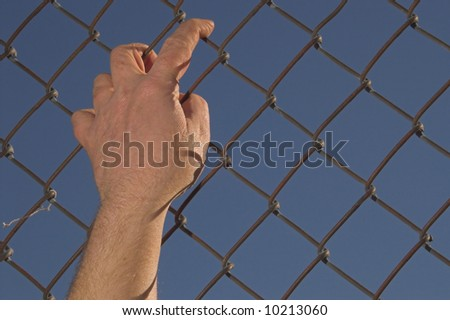 Run for the Border - stock photo