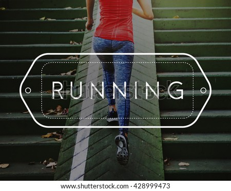 Run Jogging Exercise Fitness Workout Concept - stock photo