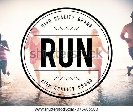 Run Rush Hurry Exercise Active Busy Jogging Concept - stock photo