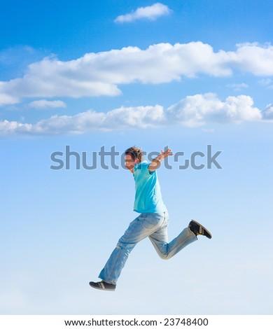run to the sky - stock photo