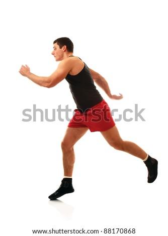 Runing man - stock photo