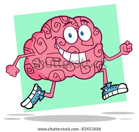Running Brain - stock photo