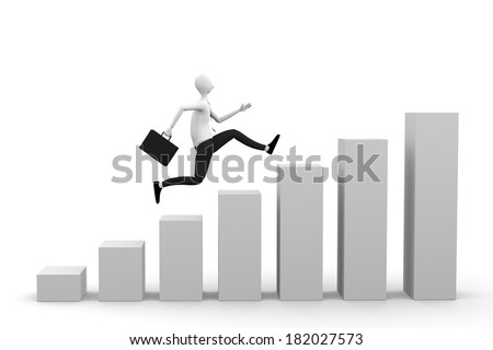running businessman - stock photo