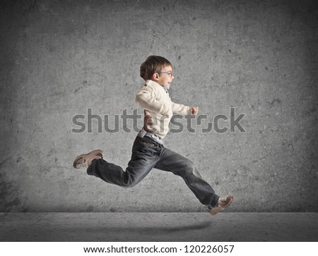 Running child - stock photo