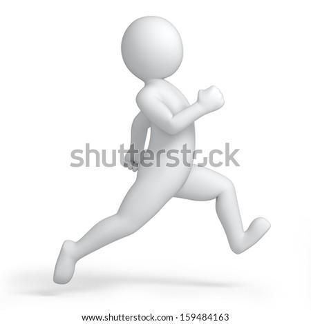 running 3d human - stock photo