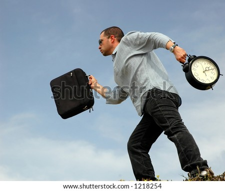 Running late - stock photo