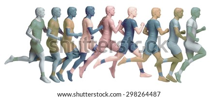running sequence - stock photo