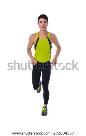 Running sport man - stock photo
