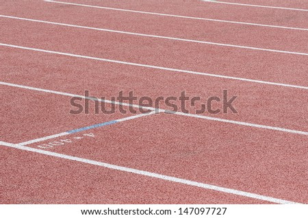 Running the line with a mark of 4x400 - stock photo