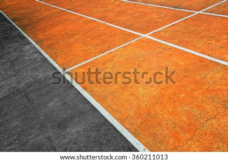 Running track field. Abstract background with sports concept, in diagonal perspective shot - stock photo