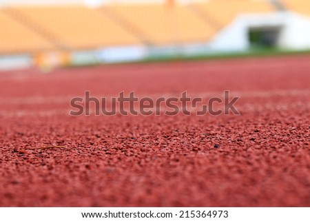 Running track for the athletes background - stock photo