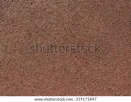 Running track red ground rubber cover. Sport and leisure. - stock photo