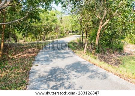 Running way in public park, Thailand. - stock photo