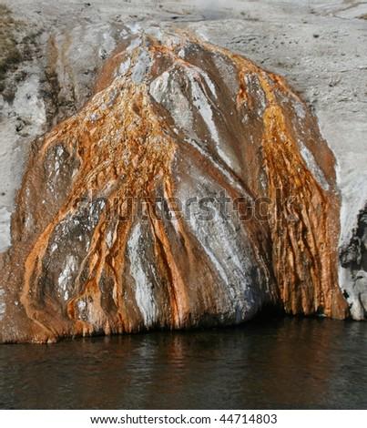 Runoff at Yellowstone - stock photo