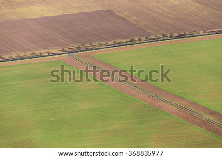 rural area in the Kyffhaeuser region in Thuringia, Germany - stock photo