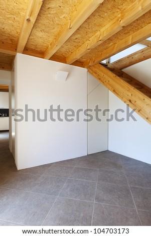 rural home interior, empty room - stock photo