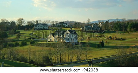 Rural Neighborhood - stock photo
