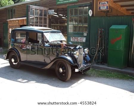 Rural Petrol Station - stock photo