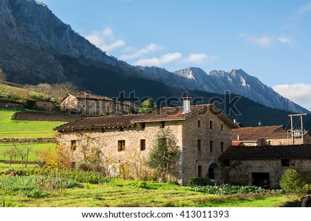 rural tourism at basque country - stock photo