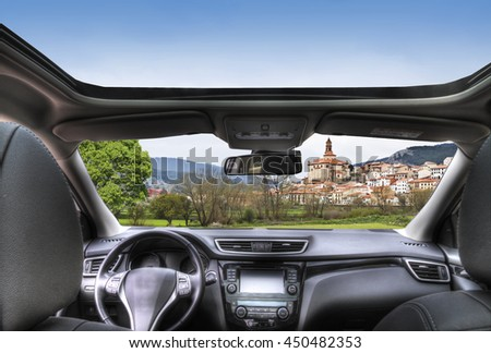 rural tourism vacation - stock photo