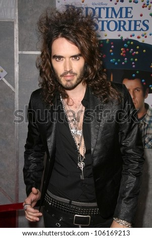 Russell Brand   at the Los Angeles Premiere of 'Bedtime Stories'. El Capitan Theatre, Hollywood, CA. 12-18-08 - stock photo