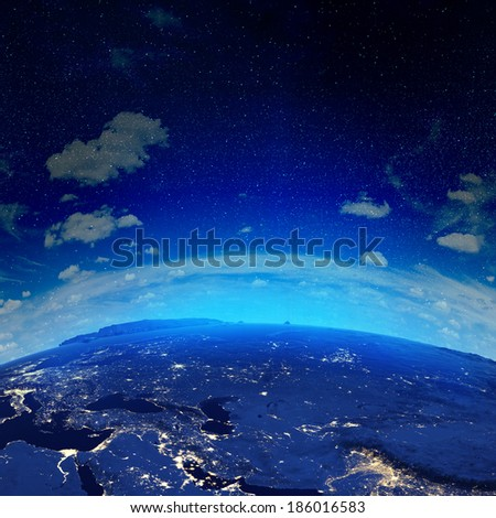 Russia. Elements of this image furnished by NASA - stock photo