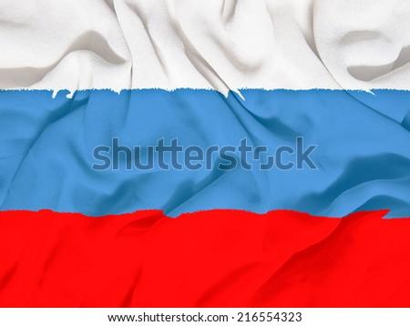Russia flag towel - stock photo