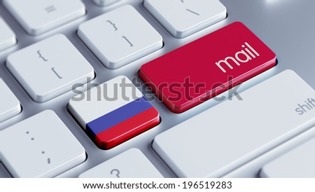 Russia High Resolution Mail Concept - stock photo