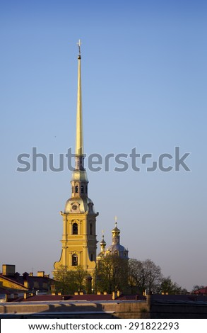 Russia. Petersburg.  Peter and Paul Fortress spike. - stock photo